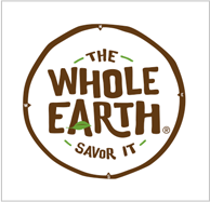 the whole earth logo in square